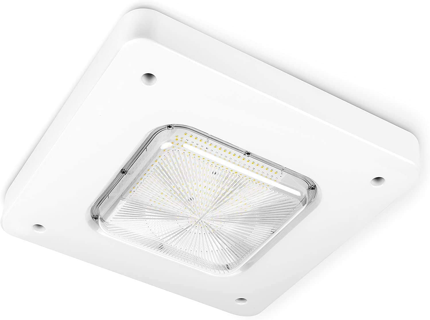 TechnoLED LED Gas Station CANOPY LIGHT, 100Watts 5000K comes with Aluminum Heat Sink to ensure long life performance