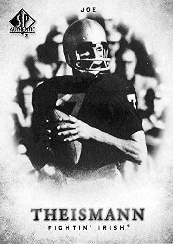 Joe Theismann football card (Notre Dame Fighting Irish) 2012 Upper Deck SPA #142
