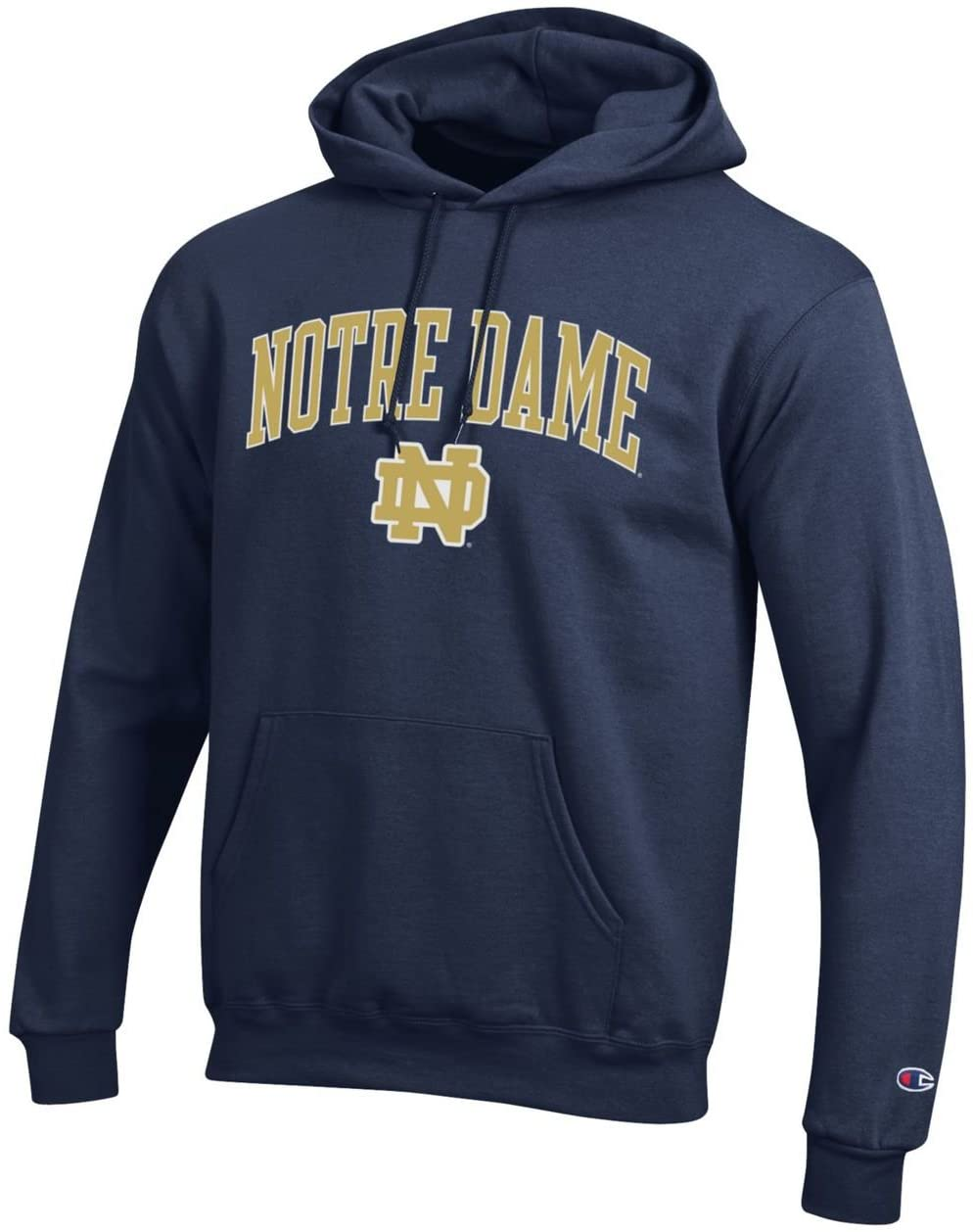 Notre Dame Fighting Irish Adult Arch Logo Classic Hoody - Navy