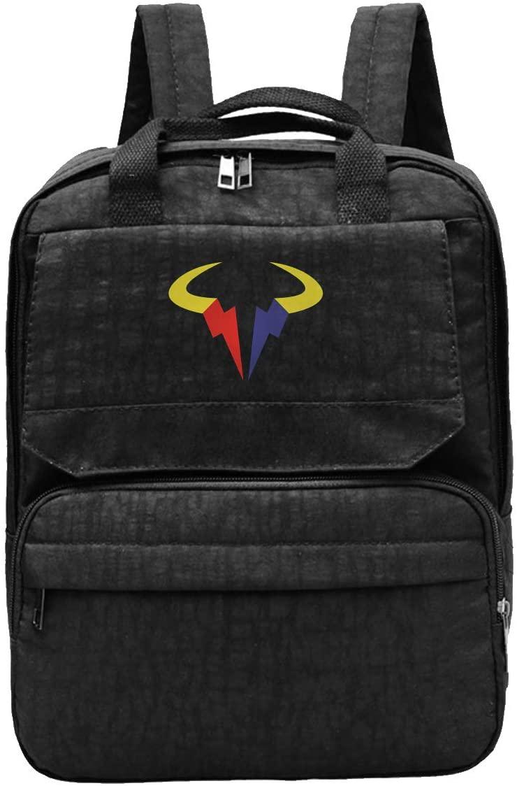 Rafael Nadal Logo Backpacks Travel Laptop Daypack School Bags For Men Women School Computer Bookbag