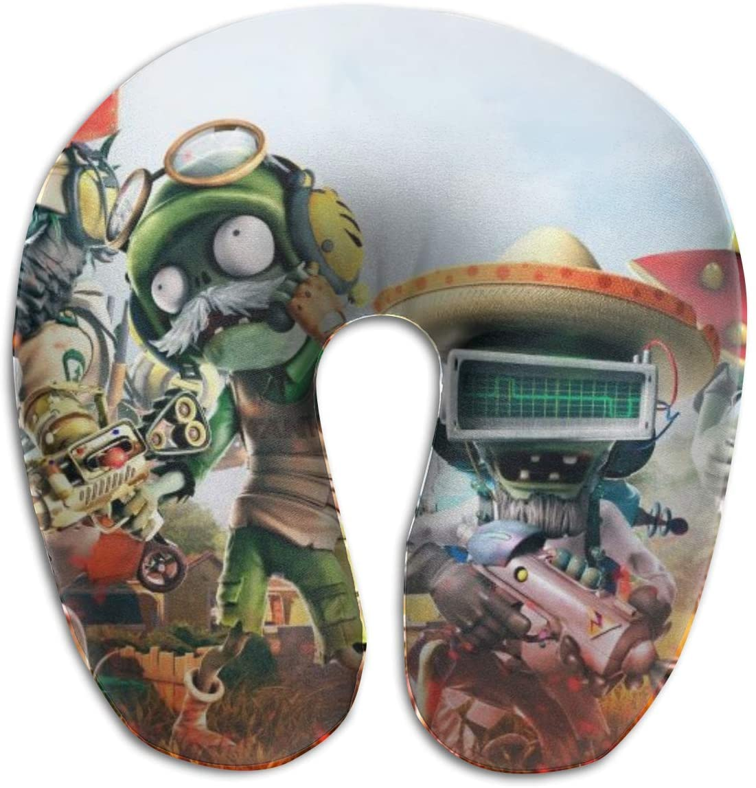HijingTT Plants Vs Zombies U Shaped Pillows Portable Travel Neck Pillow-Breathable Comfortable Soft Memory Foam Travel Pillow for Head and Neck Support