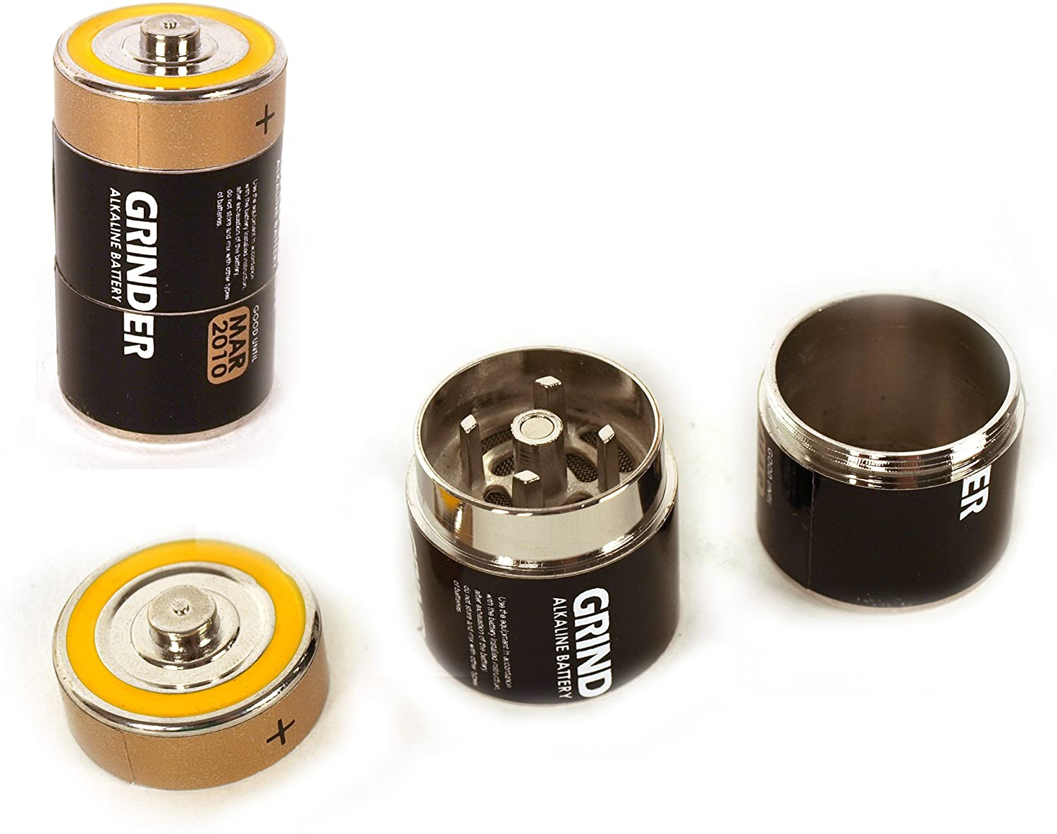 Fusion Battery Disguise Grinder - 3 Part Magnetic Herb Grinder