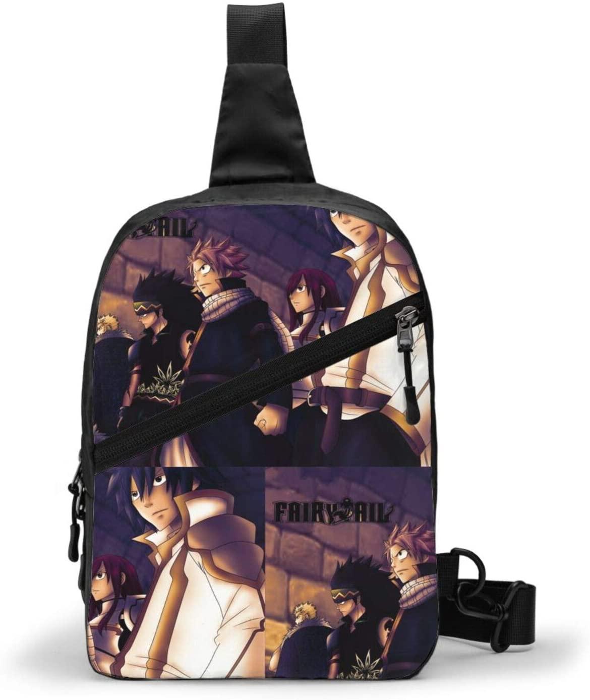 Fairy Tail Backpack Cross Body Bag Sling Bag Chest Pack Bag Men/Women Folding Chest Bag