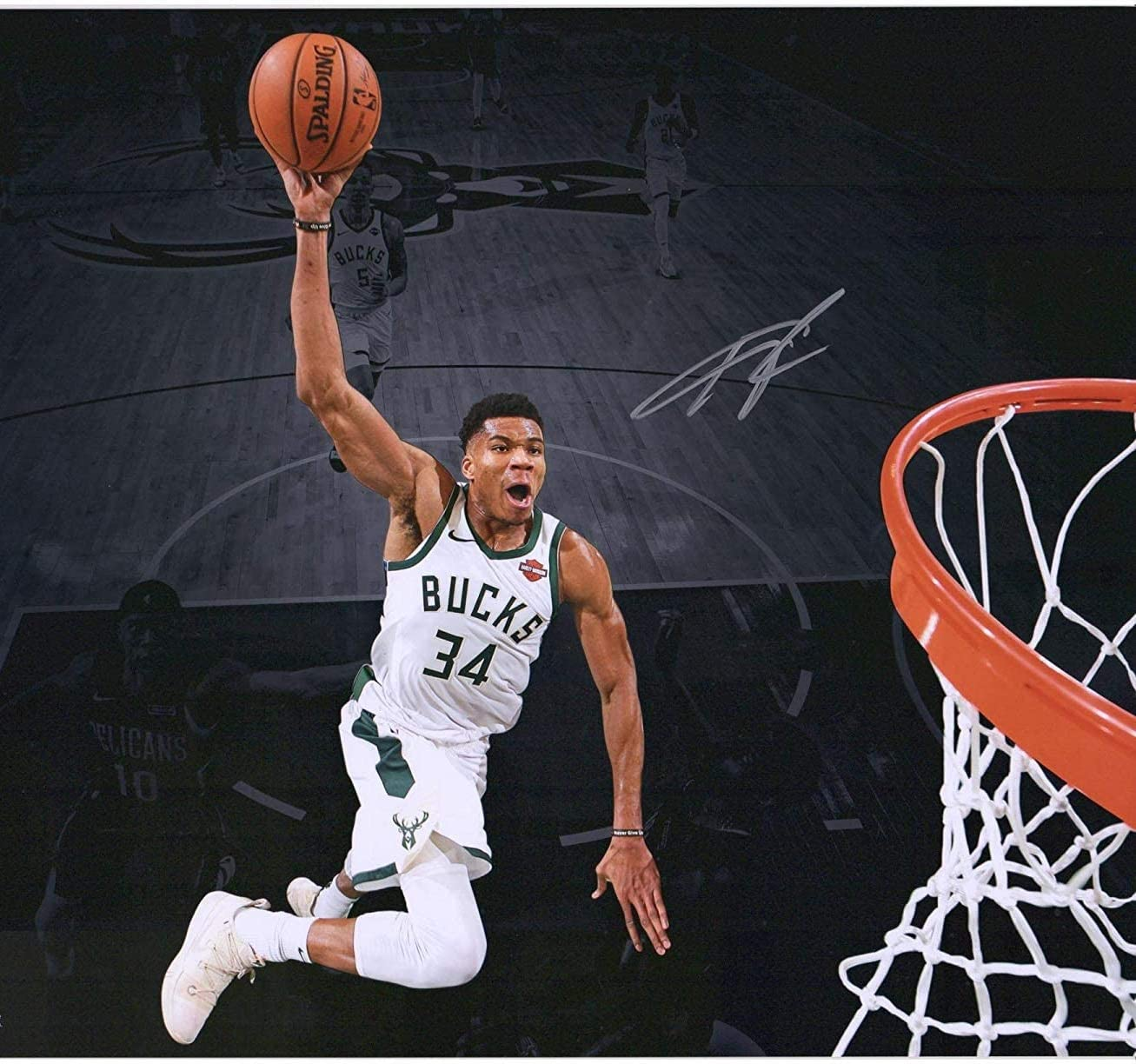 Giannis Antetokounmpo Poster Print, Wall Art, Sport Artwork, Posters for Wall, Sport Game Room Poster, Photo Canvas Art, No Frame Poster, Original Art Poster Gift Size 24 x 32 Inches