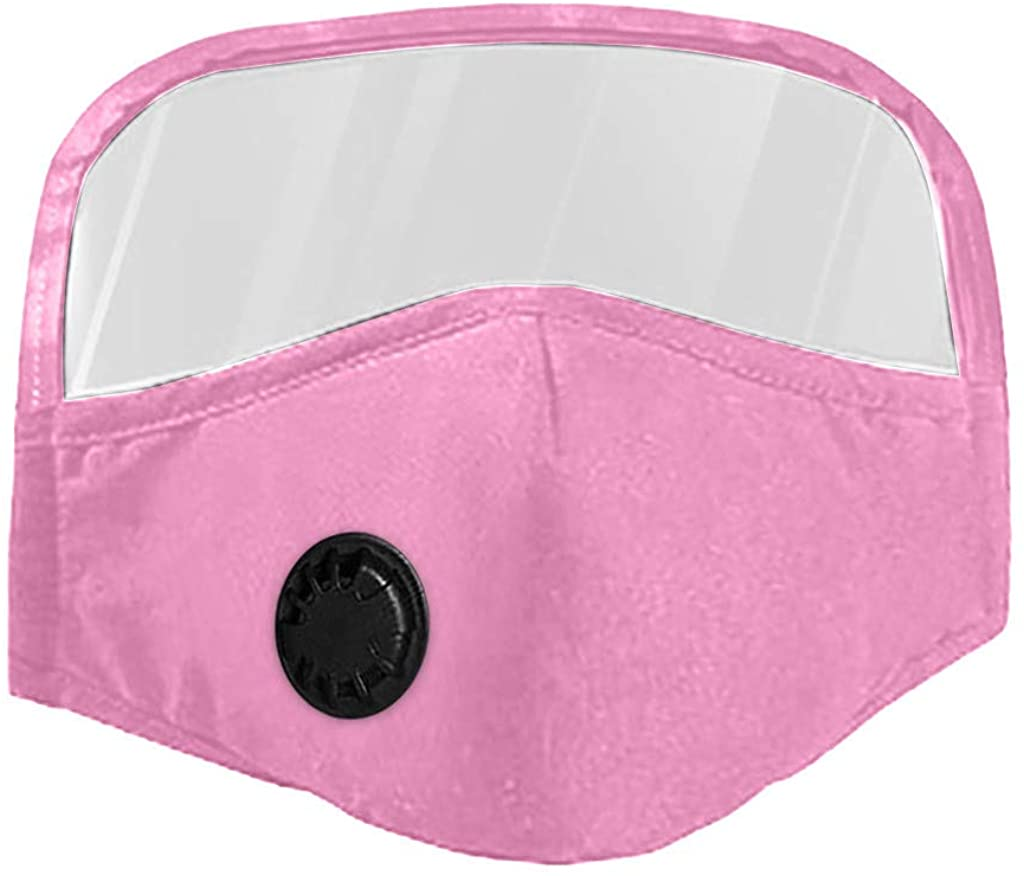 JSPOYOU Adult Breathing Valve Cotton Outdoor Eyes Protective Face With Eyes Shield