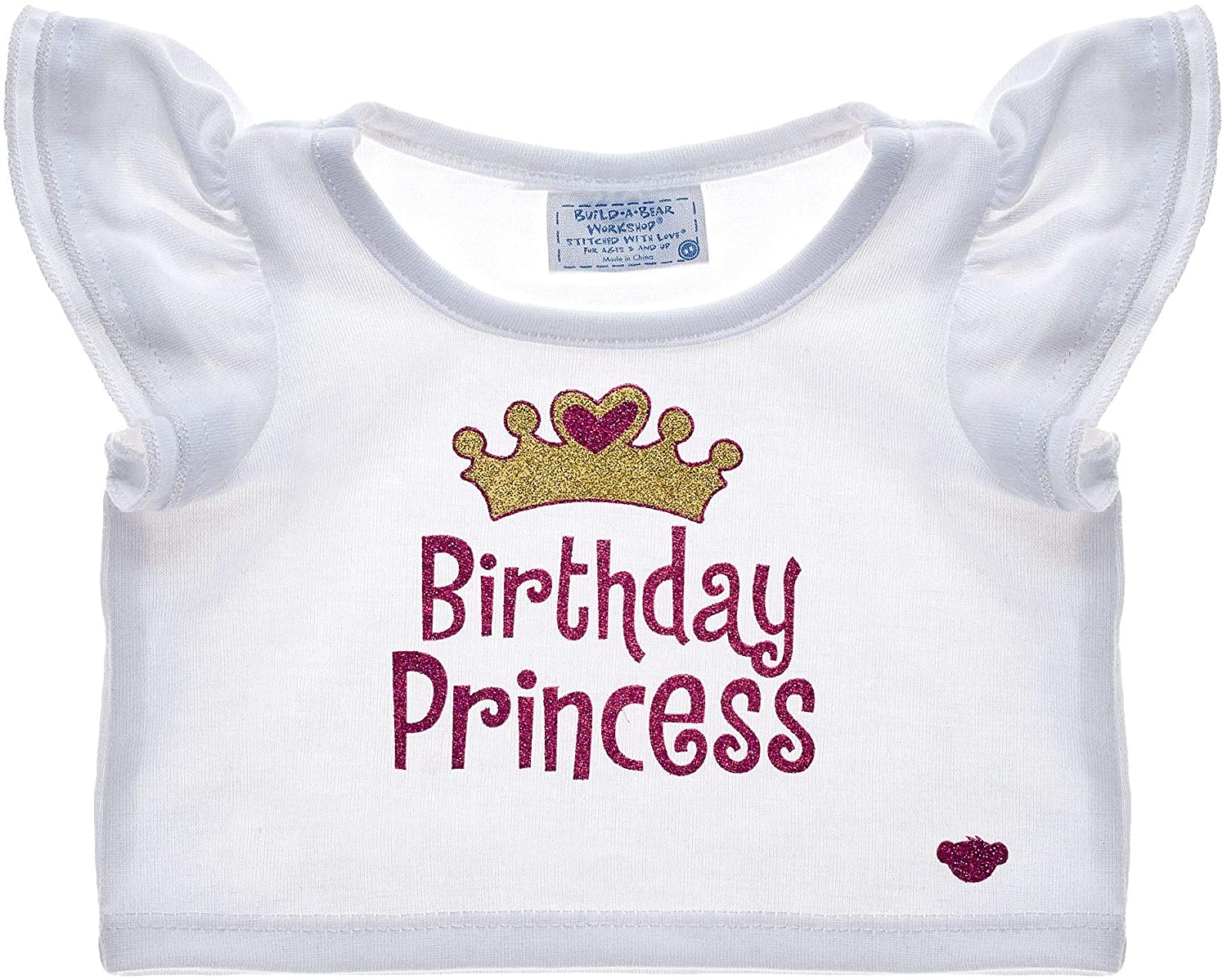 Build A Bear Workshop White Birthday Princess T-Shirt