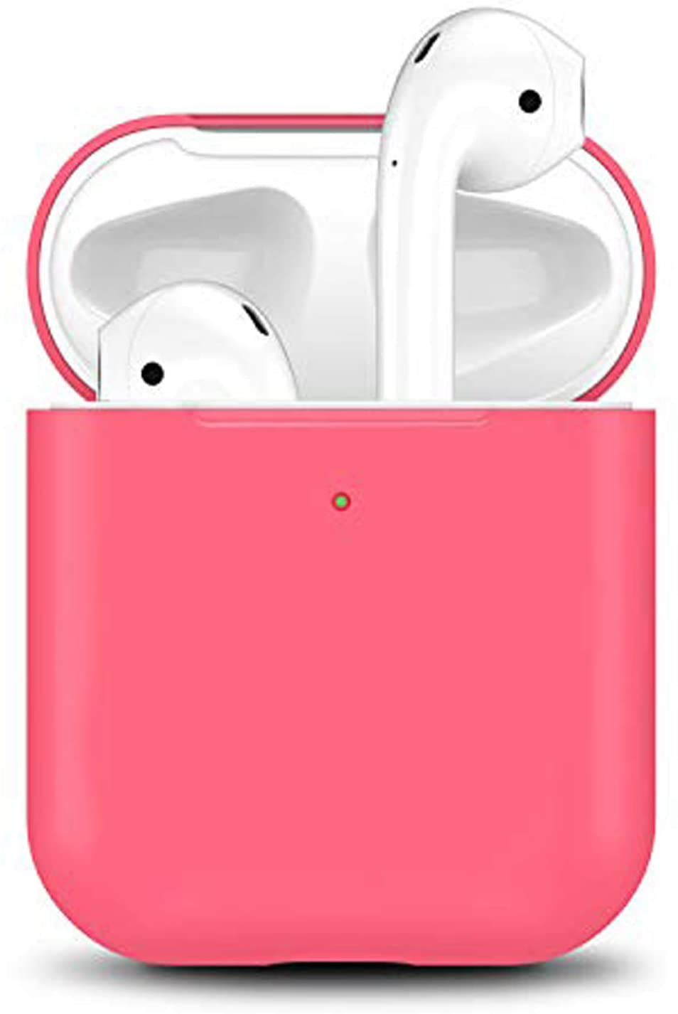 Airpods Case 2 & 1, 2019 Newest Airpod Full Protective Silicone Skin Cases Cover by Camyse Shockproof Compatible with Apple Airpods Charging Case Front LED Visible (Hibiscus)