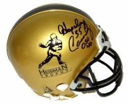 Howard Hopalong Cassady signed Heisman Gold Mini Helmet #40 '55 (Ohio State Buckeyes)- BAS- Beckett Hologram - Autographed College Mini Helmets