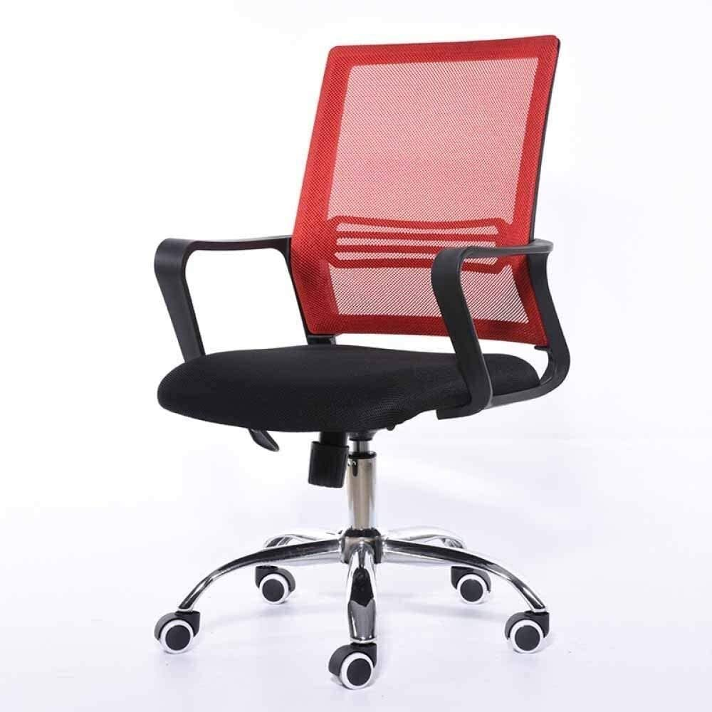 LQX Office Chair,Computer Chairs,Game Chair with Armrest,Mesh Chairs Stool,Laptop Chair,Staff Chairs,Home Desk Chairs,for Gaming Room Office (Color : Red)