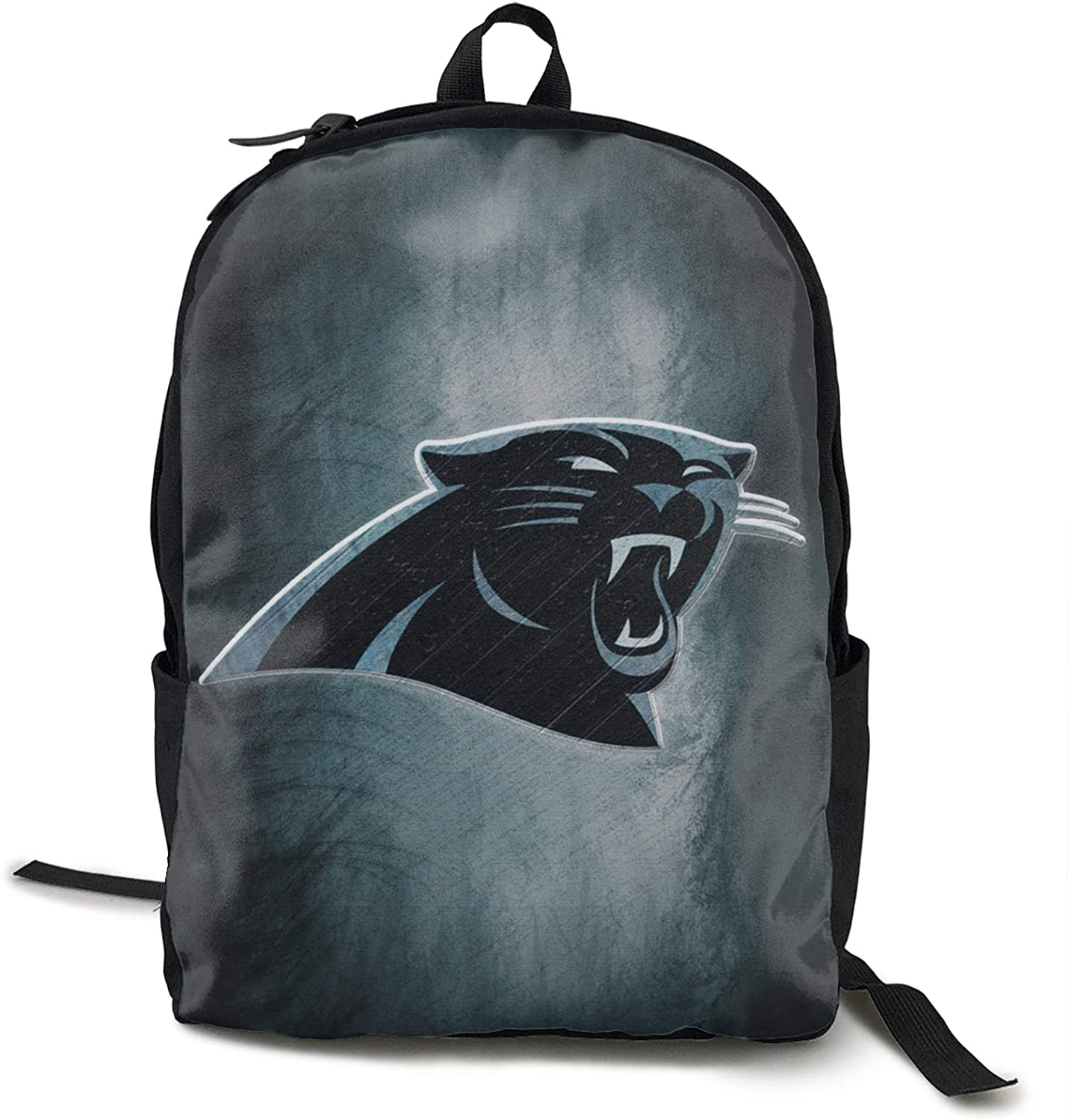 FDLB Unisex Classic Fashion Carolina Football Panther Casual Backpack Travel Backpack Laptop Backpack