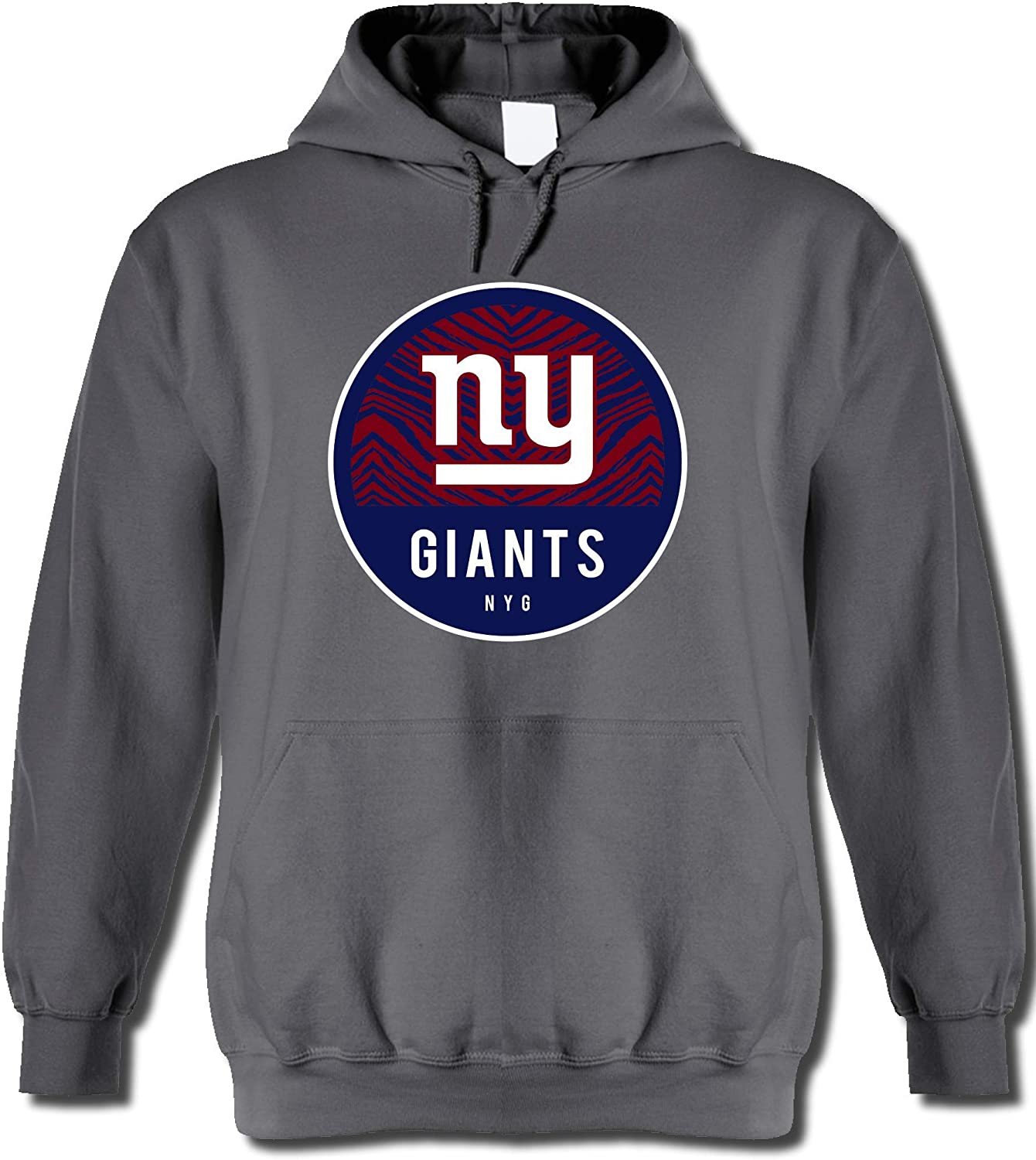 Zubaz Officially Licensed NFL Men's Team Graphic Gray Hoodie, Team Color