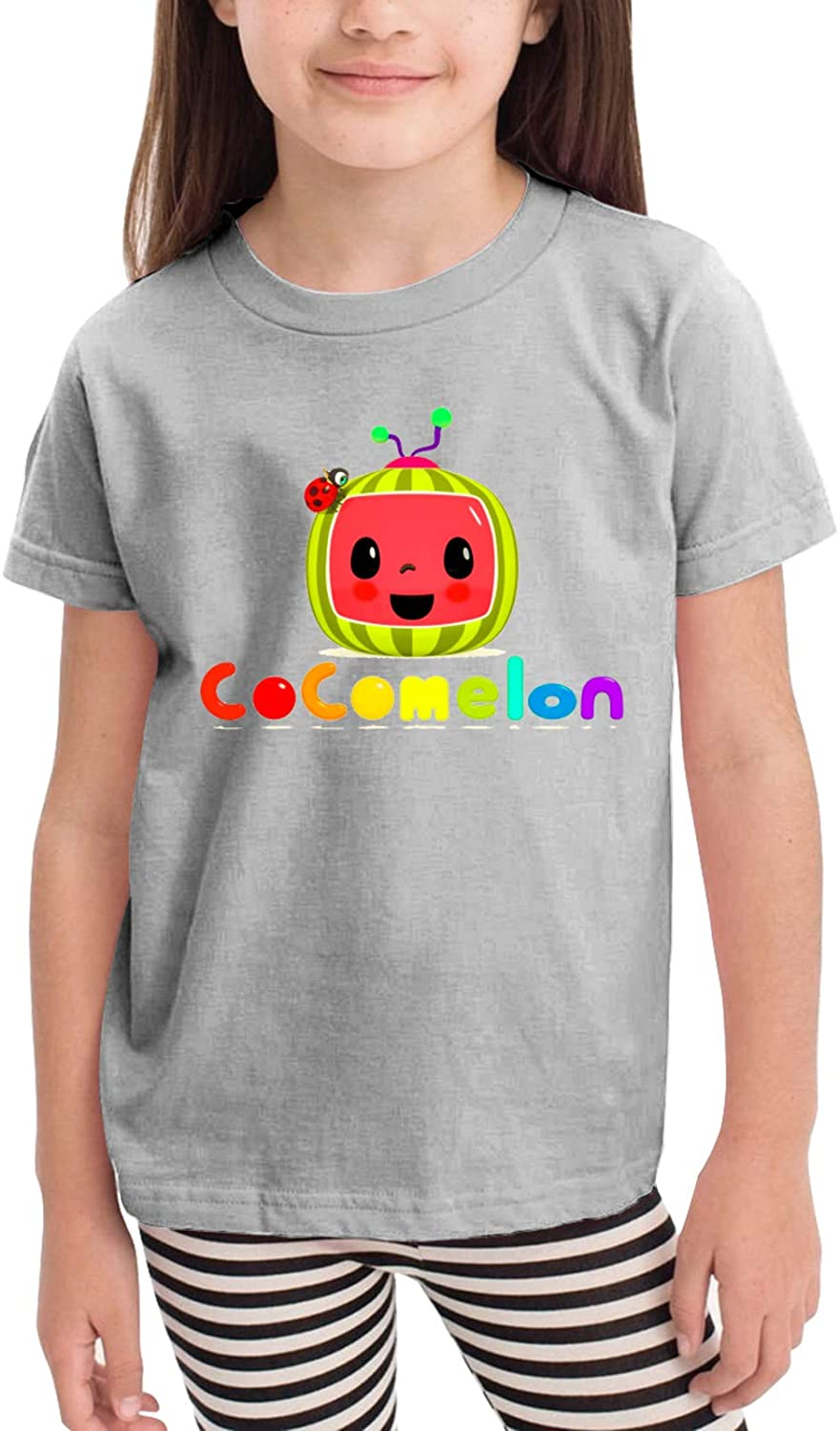 Coco-Melon Toddler/Baby Round Neck Short Sleeve T-Shirt (for Children Aged 2-6 Years) Black