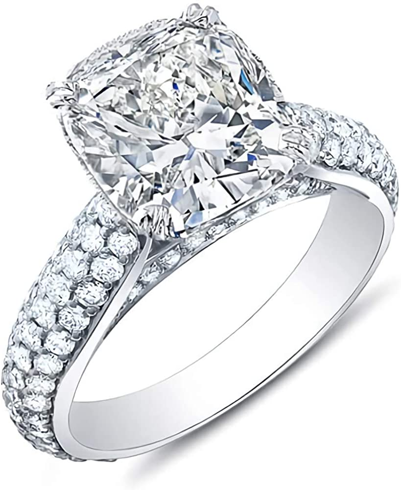 Bridal Set 1-3 Carat (ctw) 5A Cubic Zirconia engagement rings for women Platinum Plated Silver ring Cubic Zirconia rings