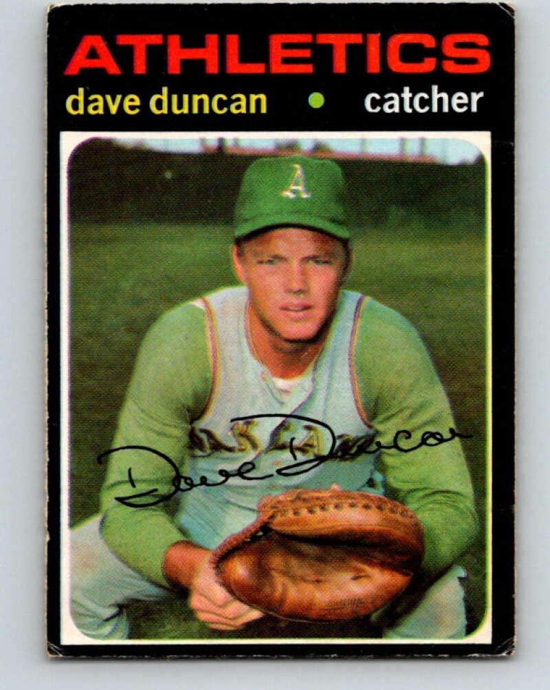 (HCW) 1971 O-Pee-Chee MLB #178 Dave Duncan Oakland AthleticsV10976