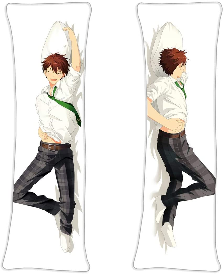 vucosfly Ensemble Stars Male Yuuki Makoto Anime Body Pillow Cover Case Japanese Textile & Smooth Knit 59in x 19.6in Cushion Cover
