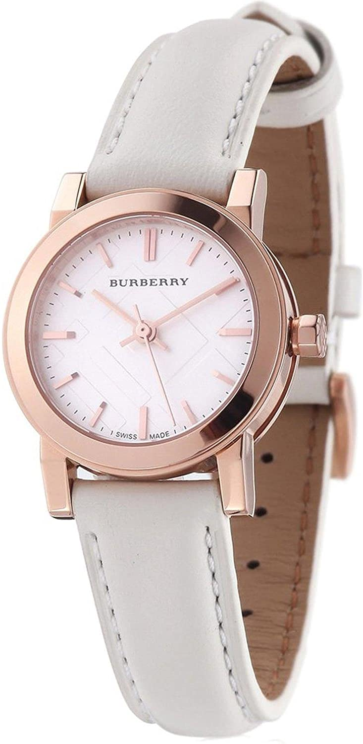 Burberry Bu9209 Rose Gold White Dial Ladies Watch