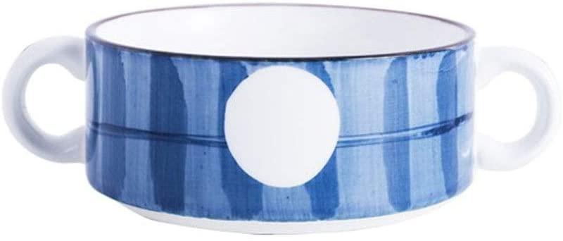 GYGJXIZ-ZFwn Ramen Bowl, Baking Bowl,Porcelain Baking Mold Creative Steamed Egg Stew Oven Pudding Dessert Bowl (Color : D)