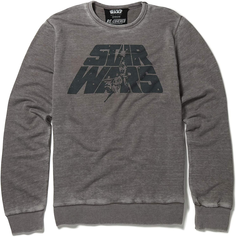 Recovered Star Wars Original Logo Mid Grey Sweatshirt