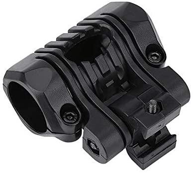 25mm Five Gear Fishbone Flashlight Clip Guide Rail Helmet Flashlight Bracket Sand Color Clip Fishing Accessories