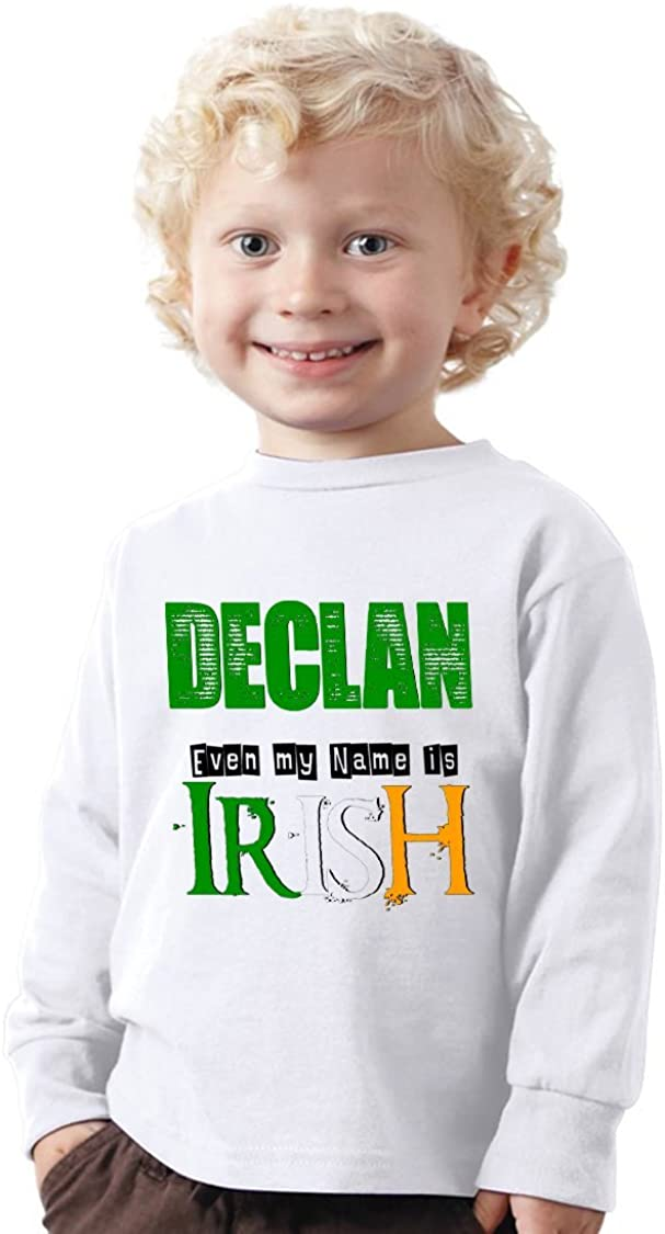 NanyCrafts Childrens Even My Name is Irish Long Sleeve Shirt