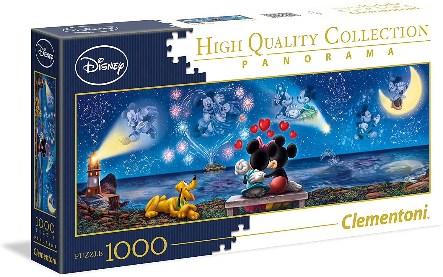 Clementoni 39449 Disney Panorama Collection Mickey Mouse Clementoni-39449-Disney Mickey & Minnie Pieces, Multi-Colour, 1000 Pezzi