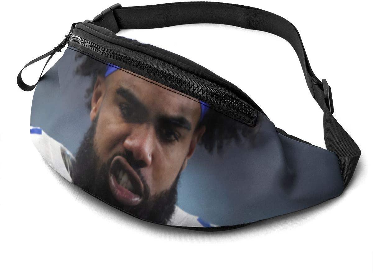 Qwertyi Ezekiel Elliott Casual Waist Bag Fitness Belt Bag Pack Pocket Pouch for Unisex