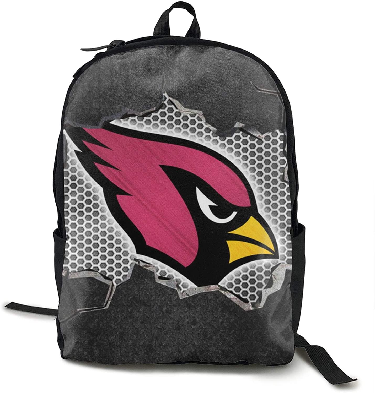 FDLB Unisex Classic Fashion Arizona Football Cardinal Casual Backpack Travel Backpack Laptop Backpack