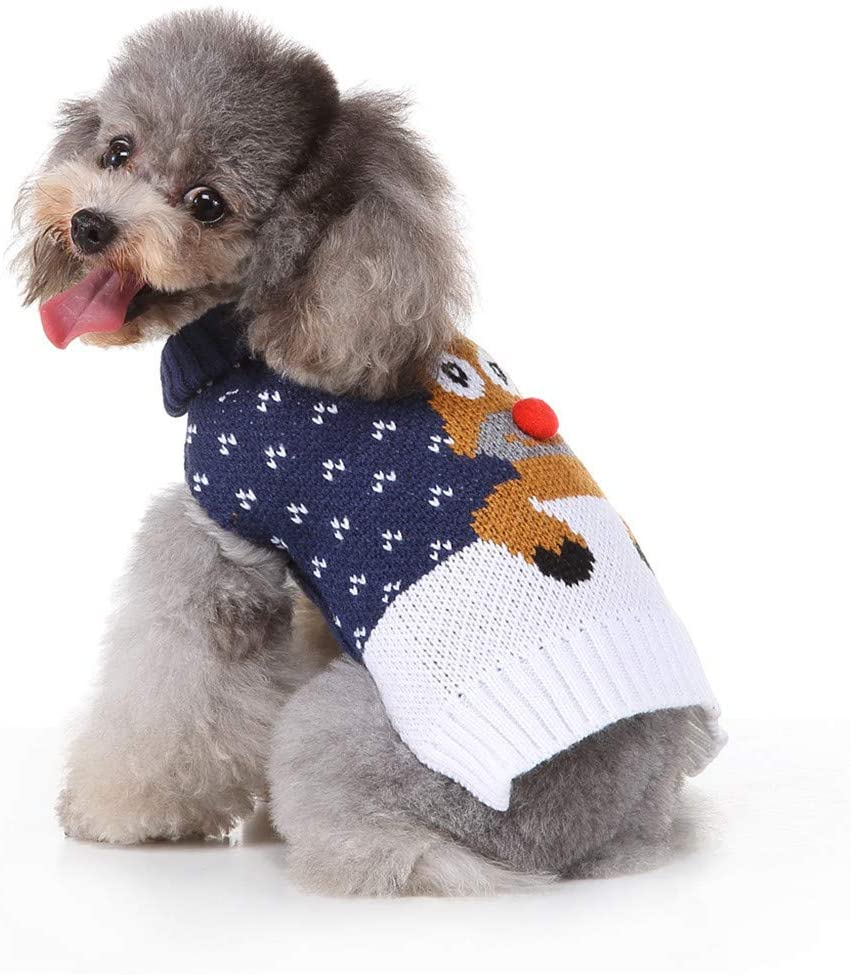 Kiarsan Dog&Cat Knitwear - Soft Comfortable Dog Sweater Warm Pet Winter Clothes,Warm Coat Windproof Christmas Costume Gifts for Cold Weather Wearing