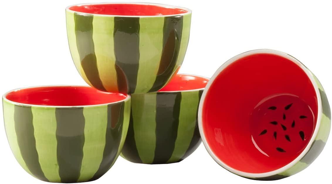 William Roberts Ceramic Watermelon Bowls Set of 4