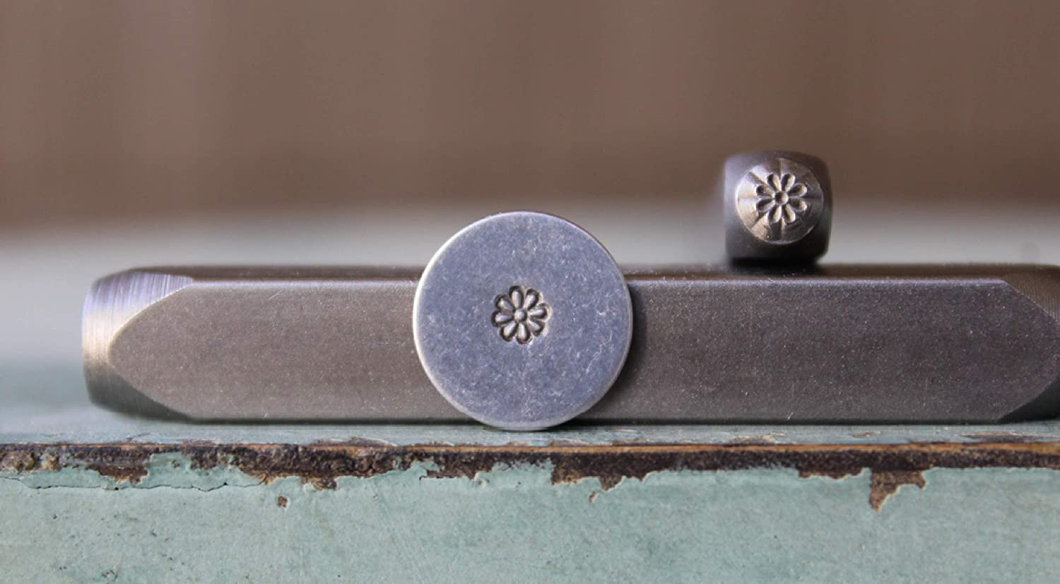 3mm Simple Flower Metal Punch Design Stamp - Supply Guy - CH-437