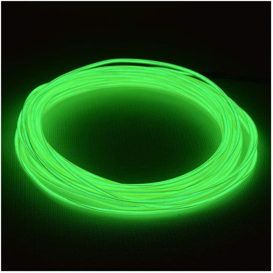 GlowCity 2.6mm 3FT Light Up El Wire Kits (Green)