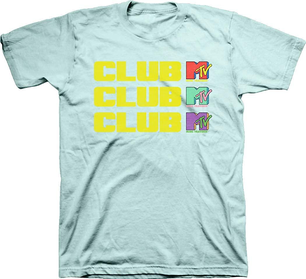 MTV Mens Retro Logo Shirt Classic 90s tee Classic 1980s T-Shirt