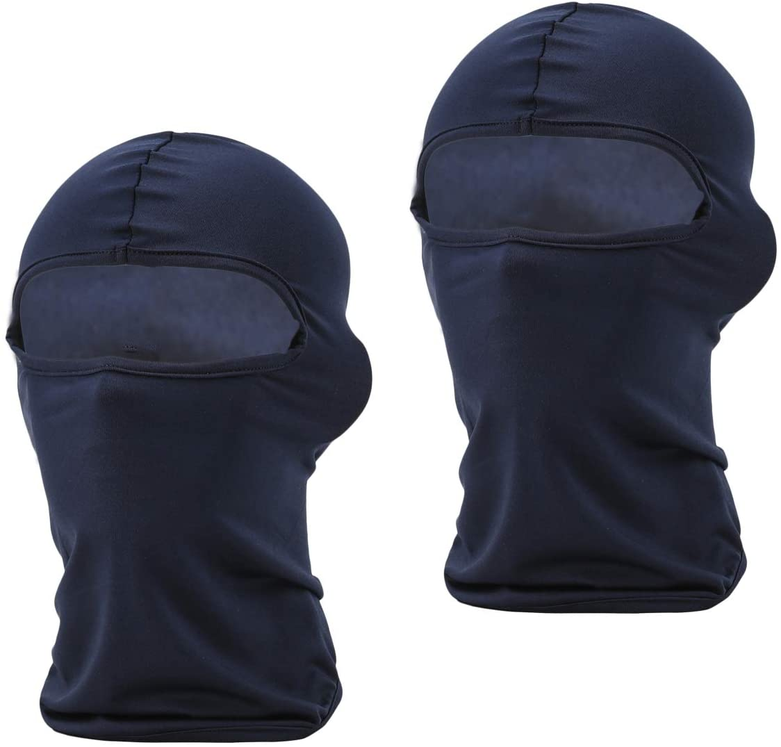 Maoko Motorcycle Outdoor Sports Hood Full Balaclava Windproof- Airsoft Riding Face Mask Hat 14 Colors (2 Pack)