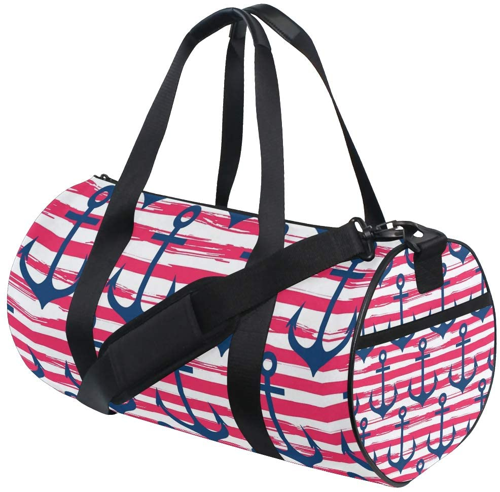 Anchor Travel Duffle Bag Sports Luggage with Backpack Tote Gym Bag for Man Women(D)