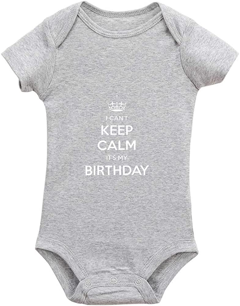 Ecley I Can't Keep Calm It's My Birthday Newborn Baby Boys Girl Clothes Bodysuit Romper 0-6 Months