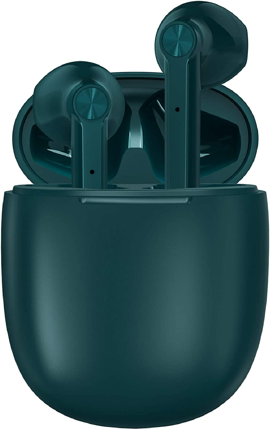 LETSCOM Wireless Earbuds, Bluetooth 5.0 Earbuds in Ear True Wireless Stereo Headphones, 20Hrs Playtime with Charging Case, Bluetooth Earbuds with Built-in Microphone for Sports and Work - Dark Green