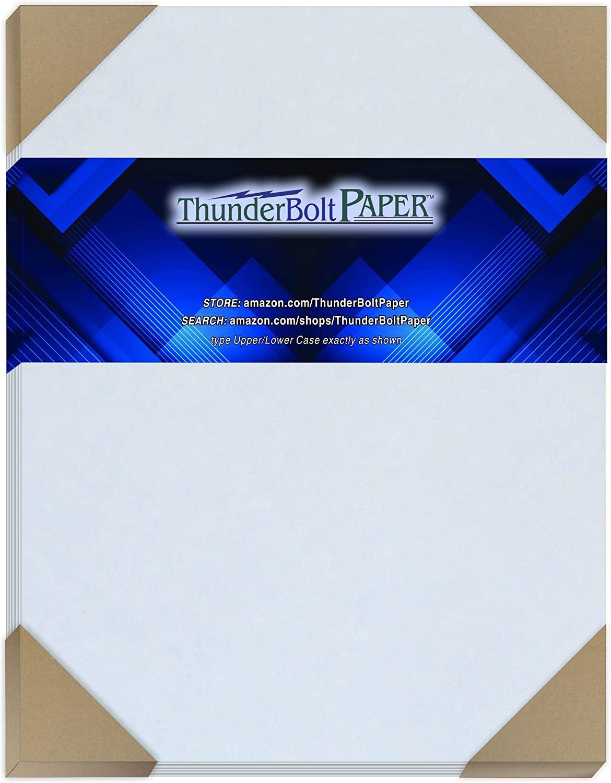 50 Light Blue Old Age Parchment 60# Text (=24# Bond) Paper Sheets - 8.5