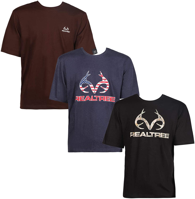 Realtree Mens Logo T-Shirt 3 Pack