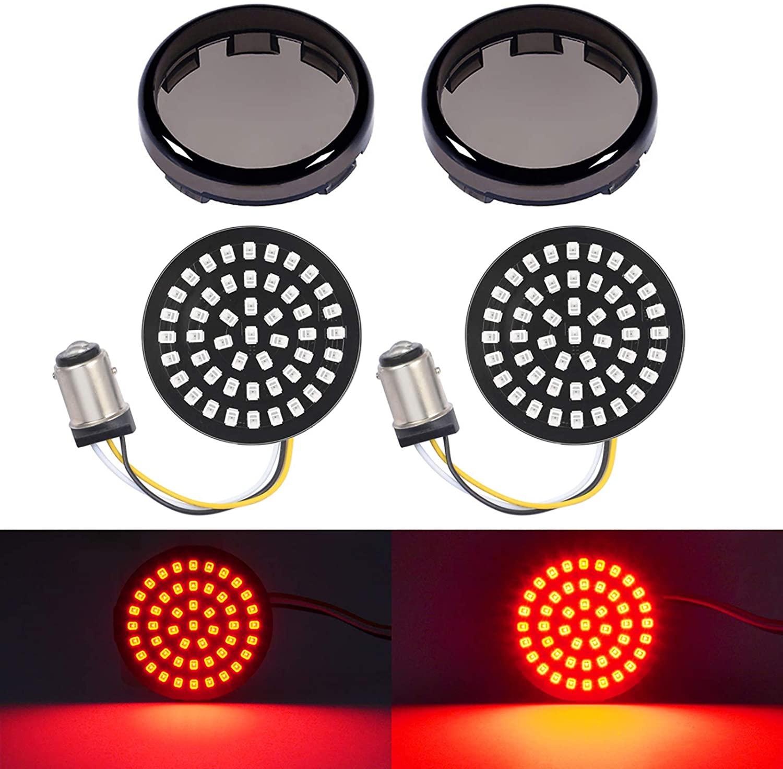 Amazicha LED Turn Signal, 1157 Bullet Red Turn Signal Tail Rear Brake Light, 2