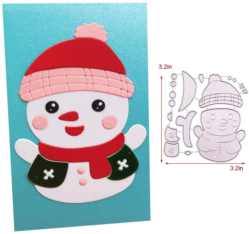 LZBRDY Snowman Metal Cutting Dies for Card Making and Scrapbooking Christmas Craft Die Cuts