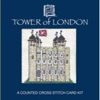 Textile Heritage Tower of London Miniature Card Cross Stitch Kit
