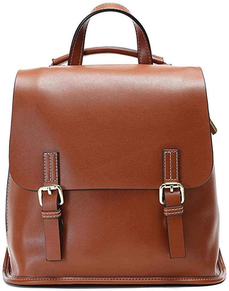 JeHouze Women soft Leather Shoulder Purse Backpack Antitheft Rucksack Vintage Ladies Bag