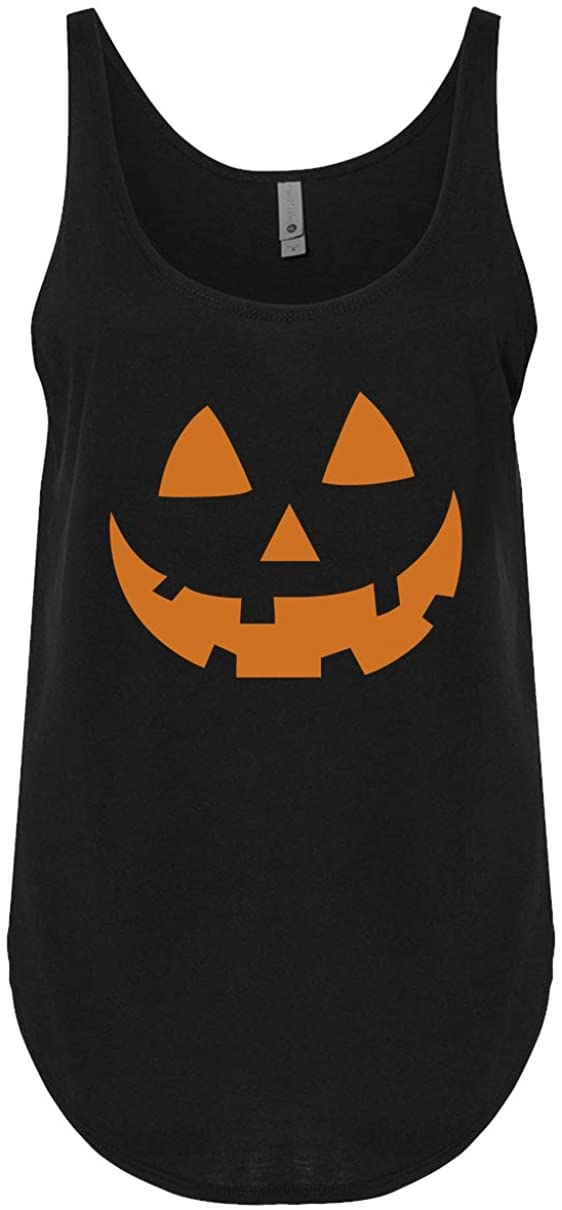 Jack O Lantern Tank Top for Women Pumpkin Face Halloween Loose Tank Top