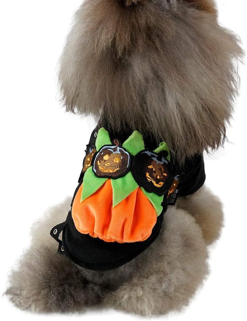 GorNorriss Halloween Dog Clothes Pet Costume Apparel Coat Pet Cat Dog Autumn Winter Warm Clothing