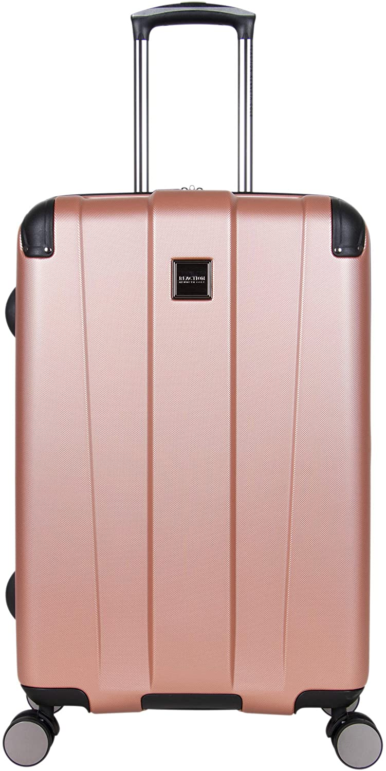 Kenneth Cole Reaction Continuum Hardside 8-Wheel Expandable Upright Spinner Luggage, Rose Gold, 24-inch Check Only
