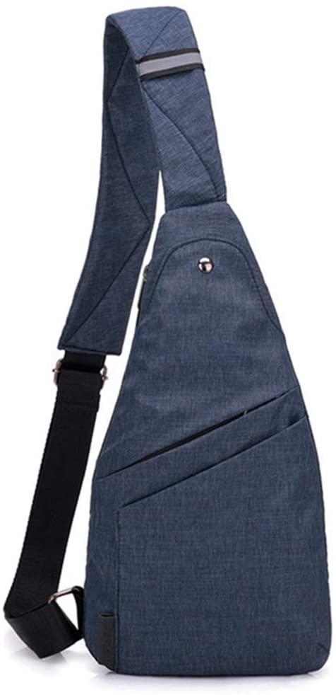 Sling Bag Men Women Anti Theft Chest Pack Crossbody Chest Bag Multipurpose Daypack (blue)