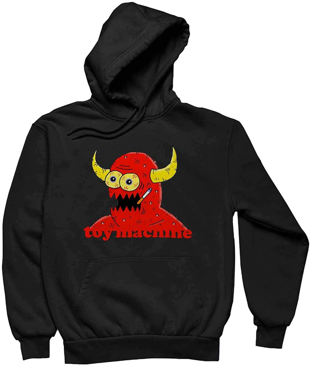 Women's Toy Machine Eye Funny Hoodie Long Sleeve Design Pullover with Pocket