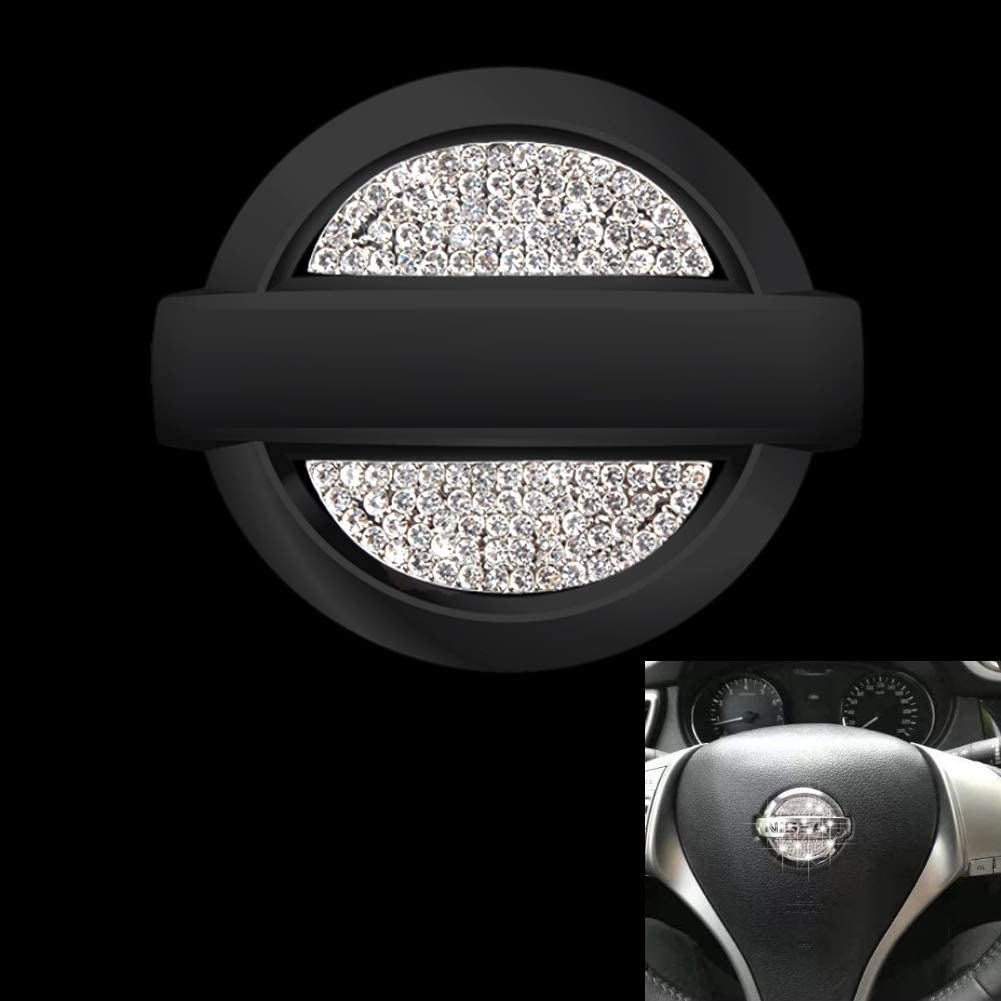 Car Interior Bling Accessories for Nissan Steering Wheel Sign Logo 3D Rhinestone Decals Cover Sticker