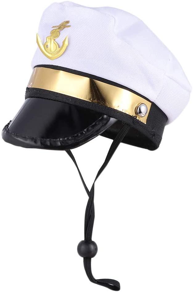 Amosfun Pet Sailor Hat Navy Dog Cat Costume Suit for Party Supplies (Sailor)