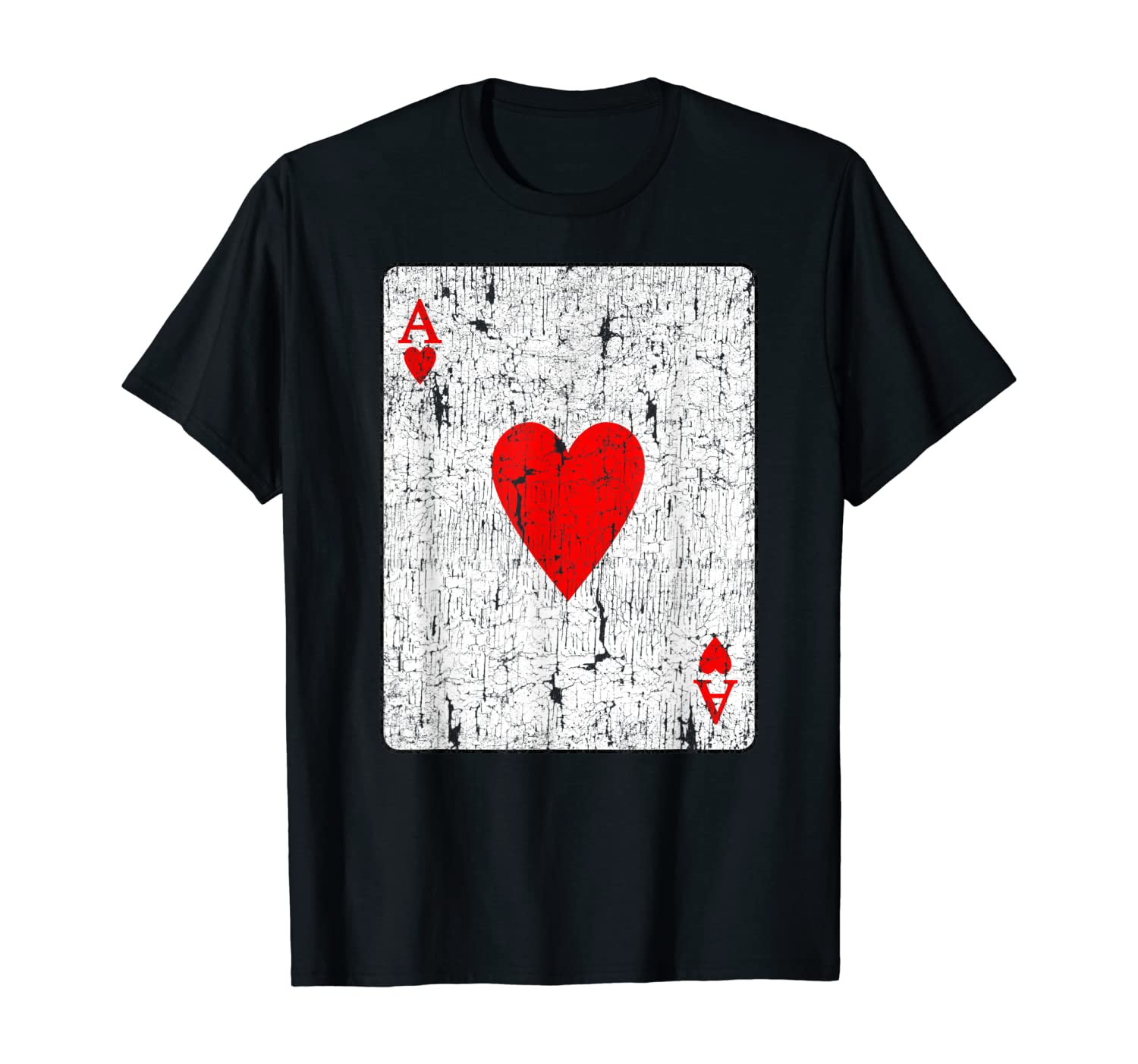 Ace Of Hearts Vintage Playing Card Shirt Halloween Costume